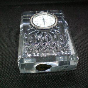 WATERFORD Lismore Crystal Small Clock Time Piece